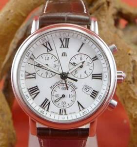 Original-Maurice-Lacroix-Unisex-Chronograph-in-Edelstahl