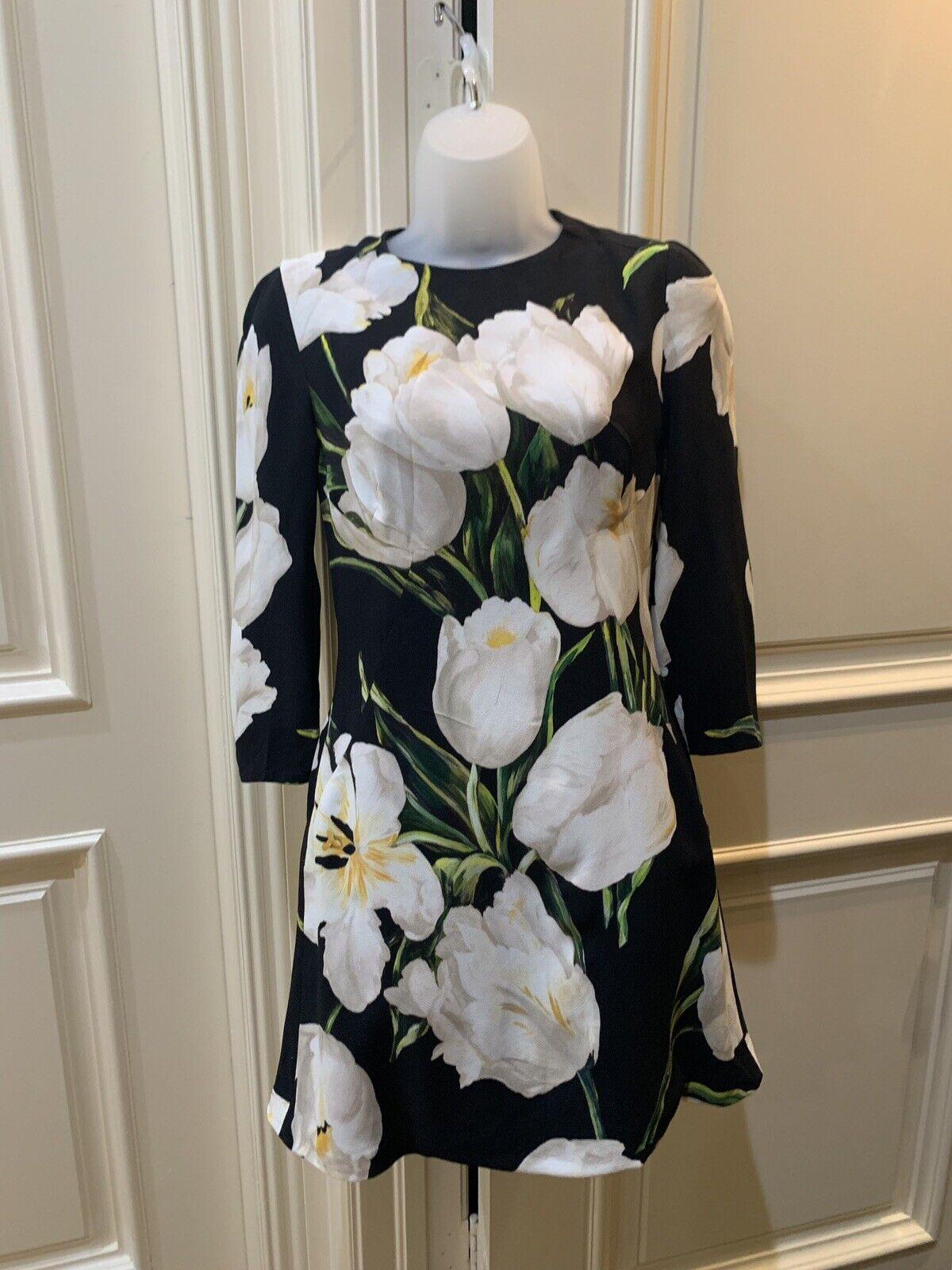 Dolce And Gabbana Tulip Print Dress 40 Italy - image 1