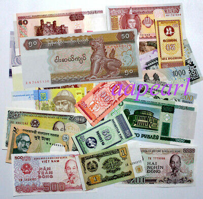 a bundle 100pcs Mongolia 10 Tugrik Banknotes brand new Collections Uncirculated