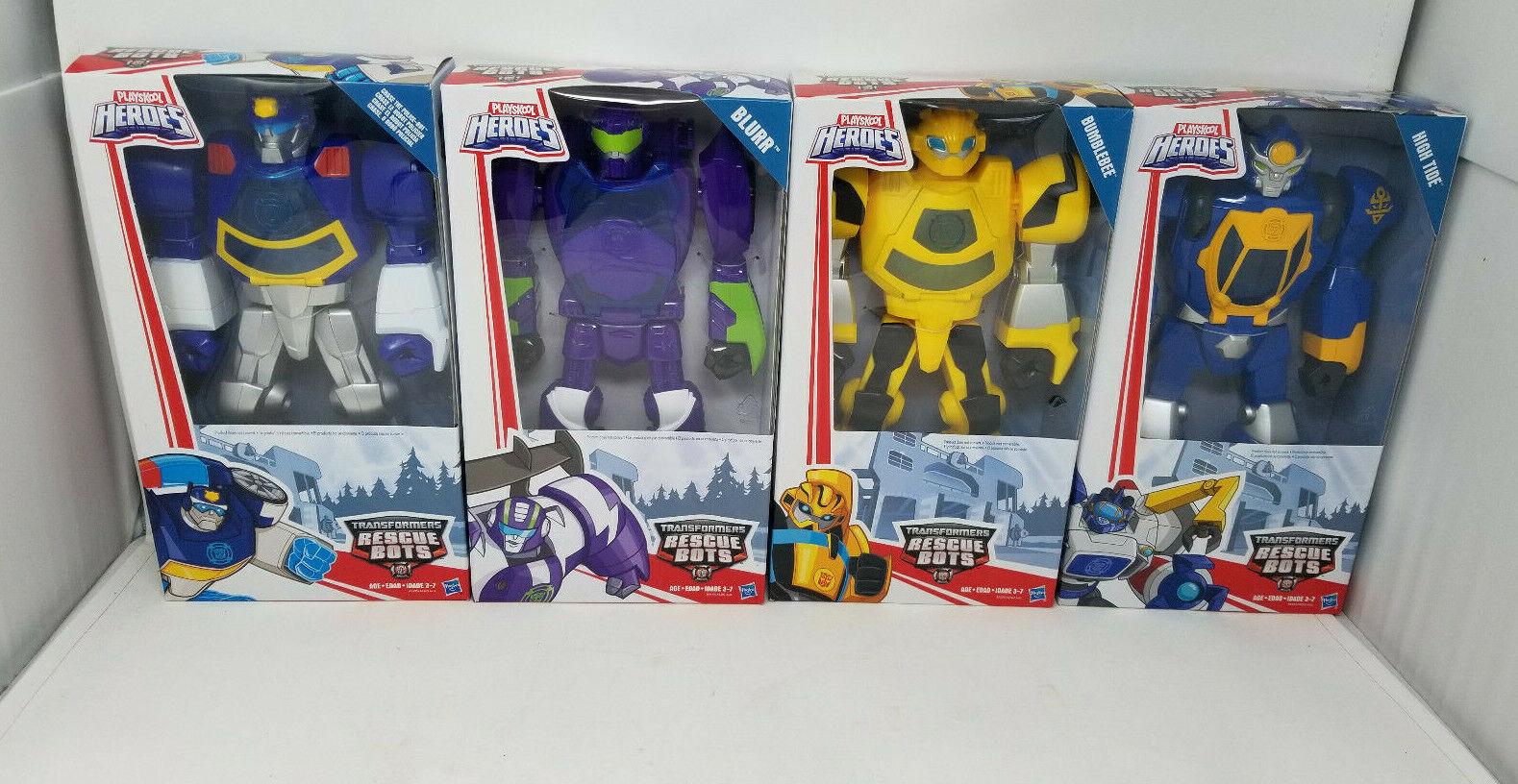 2015 Playskool Heroes Transformers Rescue Bots High TIDE blårre Chase Bumblebee