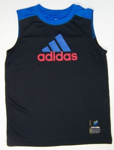 adidas Boy/'s Climalite Tank Top Muscle T-Shirt  NWT Size 4 or 5  Black or Orange