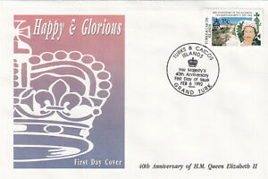 29223-Turks-amp-Caicos-FDC-Queen-40-Years-Accession-1992