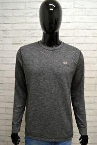 Maglia-Uomo-HOLLISTER-Taglia-M-Maglietta-Shirt-Man-Manica-Lunga-Cotone-Grigio