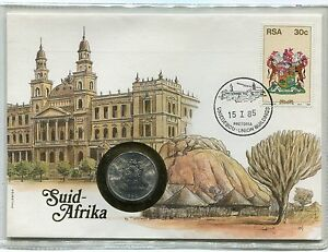 South-Africa-Union-Buildings-1985-50-cents-Numisletter-Coin-Letter-Numisbrief