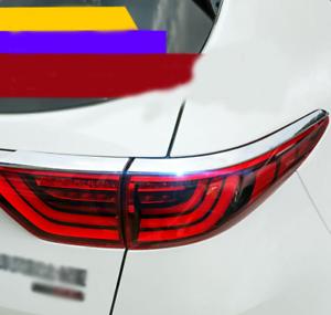 ABS Chrome Rear Tail Light Lamp Molding Trim Cover For Kia Sportage 2017