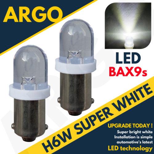H6W Led Xenon Eis Superweiß Standlichtleuchten 433 434 BAX9S Versetzte Pins Hid