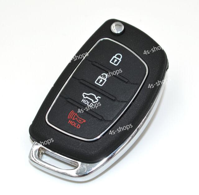 Housing Replacement Flip Folding Remote Key Case Shell For Hyundai ix45 Santa Fe