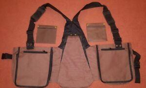 Falconry-Vest-Hawking-Brown-Codura-Vest-XXL-amp-XXXL-Bird-Handling-Big-Pocket