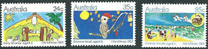 AUSTRALIA-1983-CHRISTMAS-ISSUE-COMPLETE-SET-OF-3-STAMPS-MUH