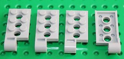NEW Lego 4x Light Bluish Grey Plate Hinge 2x4 with Pine Hole 98286
