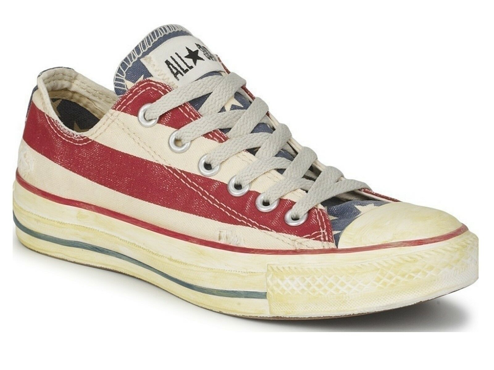 schuhe UNISEX CONVERSE  1V831 CT AS RUMMAGE OX WEISS/VAVY/R