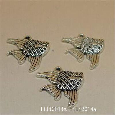 15pc Tibetan Silver fish Charm Bead Pendant Accessories Jewellery Making PL1002