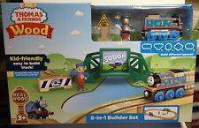 6ab912db1ceb Fisher-Price Thomas and Friends Wooden Railway 5 in 1 Builder Set Train Set  New