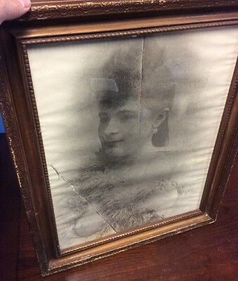 Framed Contemporary Poster Photo Showgirl Boa Breasts Risqué Art - Faded & Worn
