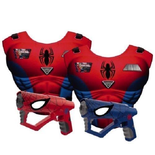 Infantil Ultimate Spiderman Laser Mega Set Pistola Juegos Cumpleaños Regalo