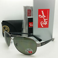 Rayban Sunglasses Rb3386 004/9a 63 Polarized Grey Black G15 Silver Authentic