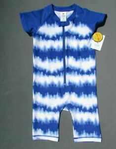 BONVERANO Baby Boy Swim One-Piece Sunsuit UPF 50 Come with a Hats