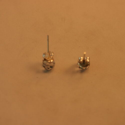 Beautiful Silver Earrings With Faceted Blue beads 0.6 Gr 0.5 Cm.Wide In Box