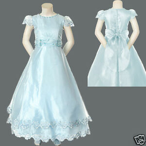New Girl National Pageant Wedding Recital Party Formal Dress 6 8 10 12 14 Blue