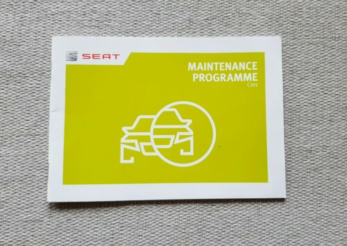 Seat service record maintenance book filled stam