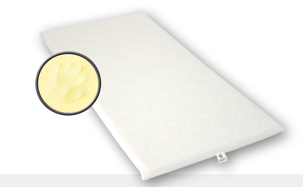 Viscoelastische Auflage VISCO Matratze 4 cm hoch versteppter Bezug 13 Größen