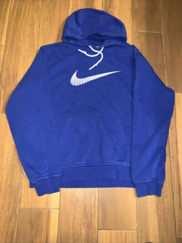 Nike Hoodie Middle Swoosh Blue Center Check Sweats