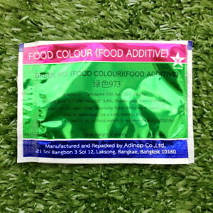 Green 973 Colour Food Coloring Powder Safe Additive Bakery Thai Made ...
