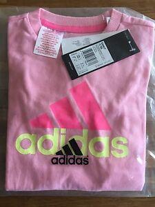 Détails Sur Adidas Bébé Fille Bébés T Shirt Parfait Cadeau Neuf Avec étiquette S20837