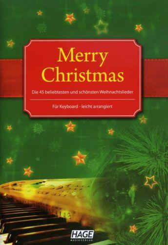 EH1085 Weihnachtlieder für Keyboard NEU 3-930159-70-8 HAGE MERRY CHRISTMAS