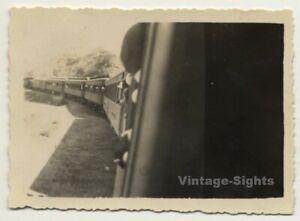 Cremailliere-Angola-Chemin-De-Fer-View-Onto-Train-Vintage-Photo-1930s