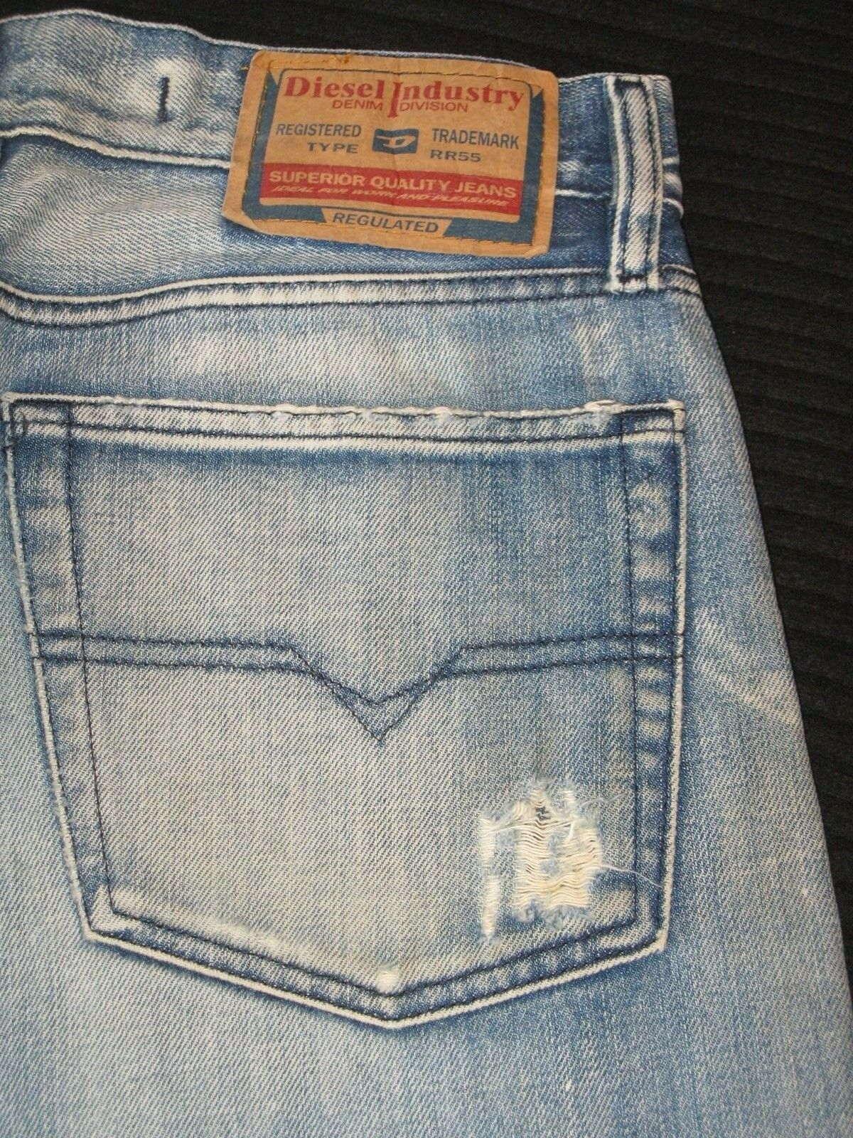 Diesel Kratt Jeans Straight Sz 33 X 29 Fit like Sz 31   32 Distressed Wash 796