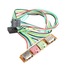 2 USB  PC Computer Case Front Panel USB Audio Port Mic Earphone Cable 1.0 Ports