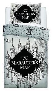 Harry Potter Carte Marauders Simple Housse Couette Blanc Ensemble De
