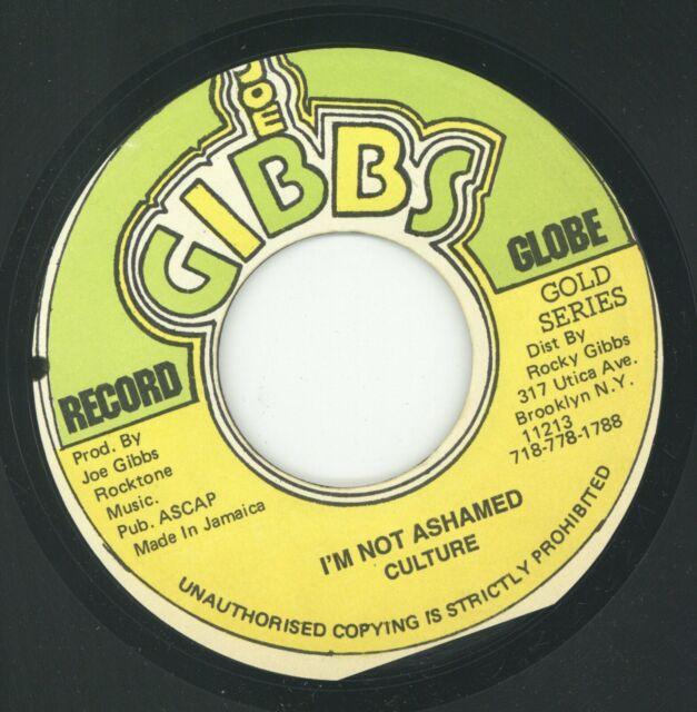 """"""" I'M NOT ASHAMED."""" culture. JOE GIBBS RECORD GLOBE 7in."""