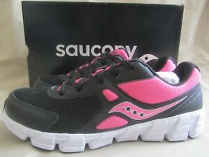 1f14fb38 Details about Saucony Vortex Sneakers Youth Girls Size 7 Black Pink White  New Without Box