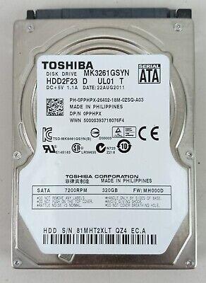 MK3261GSYN 2.5 inch Renewed Toshiba 320GB 7200rpm SATA2 16MB Notebook Hard Drive