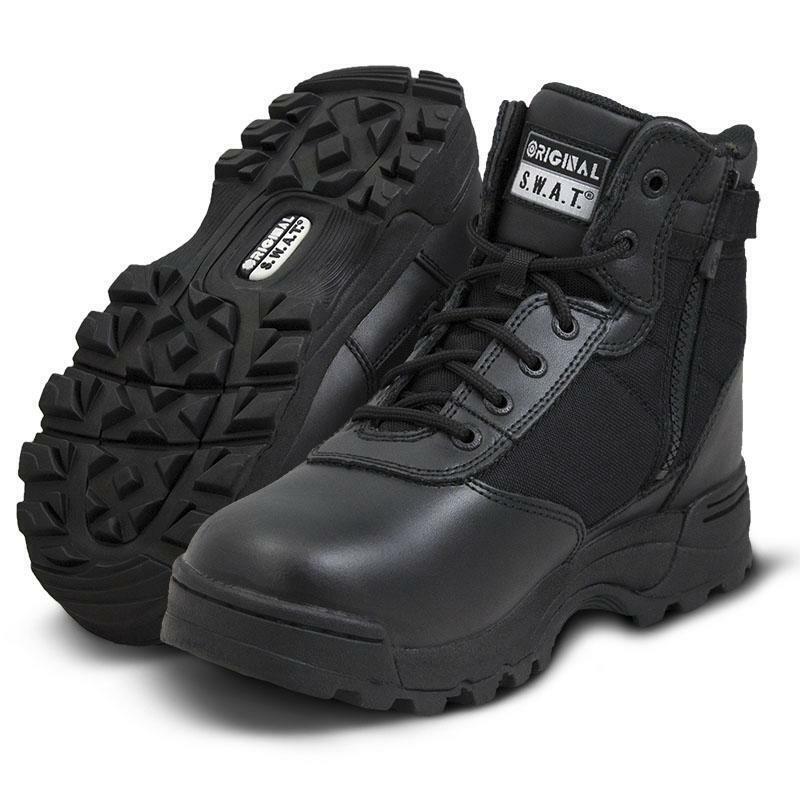Original S.W.A.T. 116401 Para Hombre botas Clásico 6  Side-Zip Ligero Zapatos De Swat