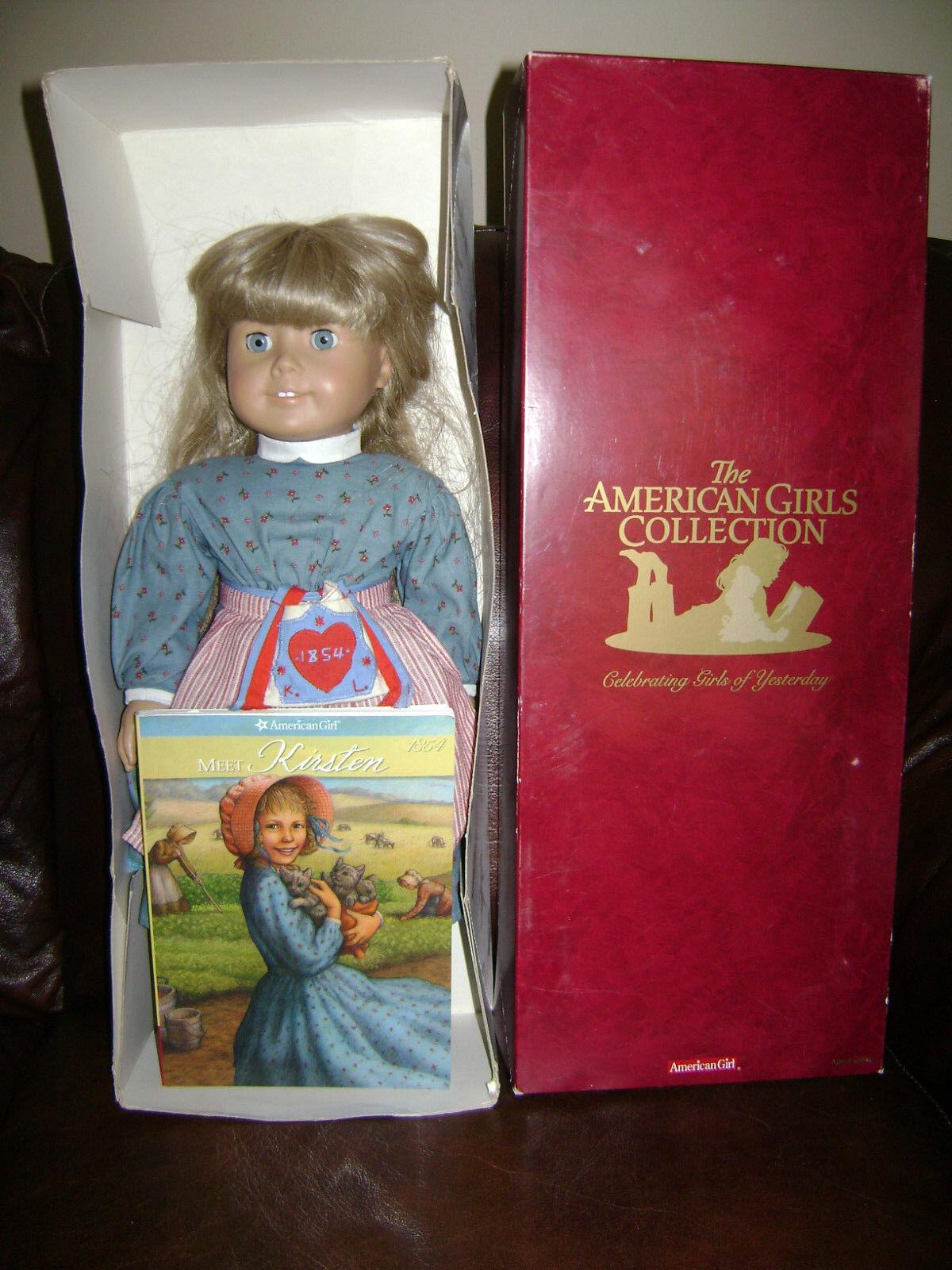 American Girl Doll 18  histórico Kirsten Co agradable en Caja