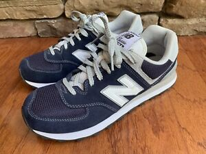 601696146a5f3 Mens New Balance 574 Classic Shoes Size 8 Navy Blue ML574VIC Suede ...