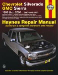haynes repair manual chevrolet silverado gmc sierra 1999 thru rh ebay com 2008 chevy silverado parts manual 2017 Chevrolet Silverado