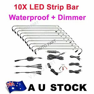 10-Bar-12V-Linkable-Rigid-LED-Camping-Kit-bag-Camper-Cabinet-Strip-Light-AU-Ship