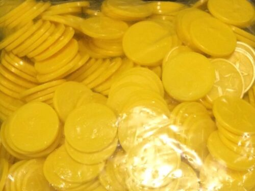 200 Embossed Yellow Star Tokens Event Fundraiser Great for any Party
