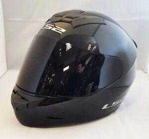 LS2-FF352-ROOKIE-CASCO-INTEGRAL-Motocicleta-ACCIDENTE-NEGRO-BRILLANTE-CON-OSCURO