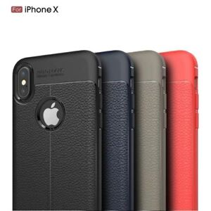 Slim-Luxury-Leather-Back-Ultra-Thin-TPU-Case-Cover-for-iPhone-10-X-amp-8-7-6s-Plus