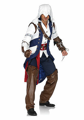 Men's Adult Video Game Assassin's Creed Connor Cosplay Halloween Party Costume