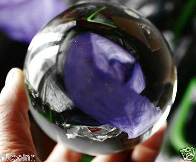 80mm Crystal Ball Gazing Sphere Show Stone Scrying Pool Venue Decor