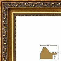Craig Frames Ancient Ornate, Antique Gold Picture Frame