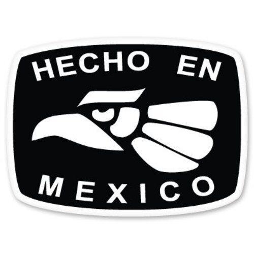 SELECT SIZE Hecho en Mexico Car Vinyl Sticker