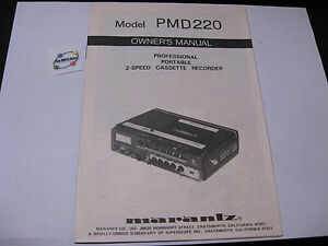 Marantz-PMD220-Profesional-Cassette-Recorder-Owner-039-s-Manual-22-pg-English-French