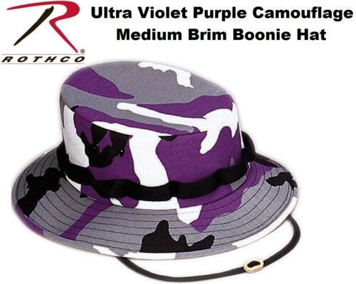 Ultra Violet Purple Camouflage Military Style Boonie Hat Bucket Jungle Hat 5474